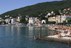 The seaside of Opatija in September 2006