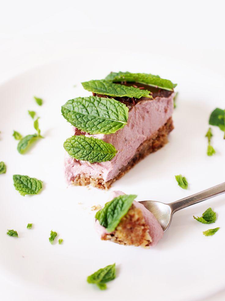 Raspberry cashew mint cake #eatmeplease #RAW #vegan #glutenfree