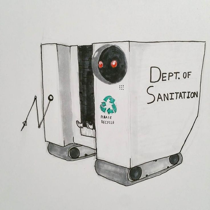 """The city's new trash collector robots went into service today with very little fanfare. Unlike older models these are impossible to tip preventing lost time in cleanup due to vandalism."" Tags  #marchofrobots #marchofrobots2017 #robots #droids #mech #android #industrialdesign #electronics #fb #pinthis #twitter #drawing #copicmarkers #recycle #sketch #visualdevelopment #visdev #illustration"