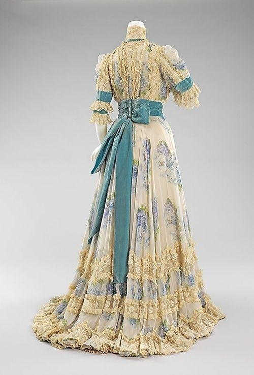19th Century Fashion History   19th Century: Fashion History / Silk, linen and rhinestone afternoon ...