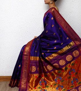 Blue Paithani Silk Saree