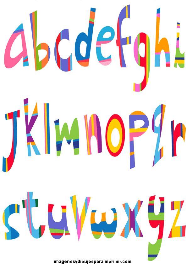 Abecedario con letras de colores para imprimir cosas - Dibujos infantiles originales ...