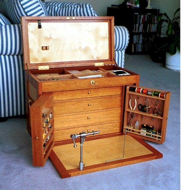 issue de plans de machinist tool box montage mouche fly tying rh pinterest com