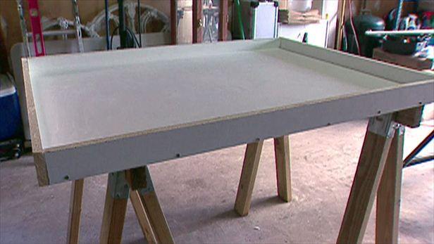 How to Build a Concrete Countertop | DIY Kitchen Design Ideas - Kitchen Cabinets, Islands, Backsplashes | DIY