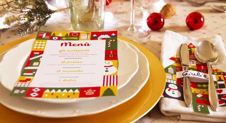 Decorare la tavola per Natale è facile grazie al Kit Fai da te di AIA!    #LeIdeediAIA #AIA #Natale #decorazioni #decori #design #tavola #art #Kit #feste