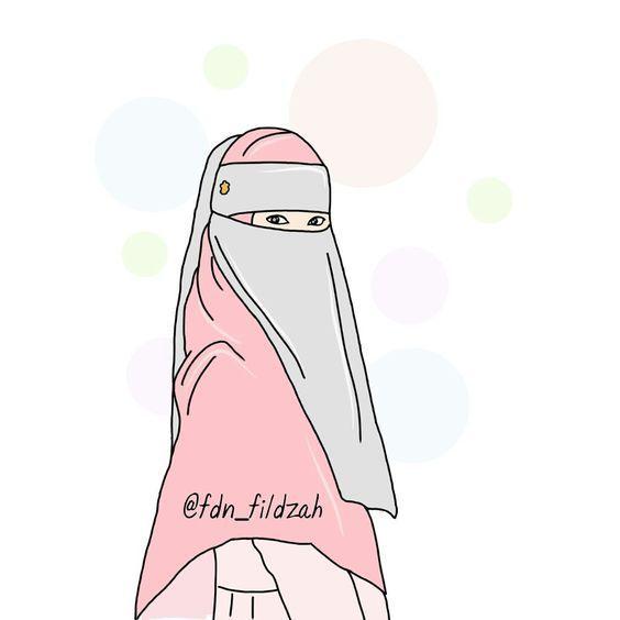 105 Gambar Wanita Berhijab Kartun Bercadar Cantik Lucu Banget In 2020 Girls Cartoon Art Hijab Cartoon Cartoon Art