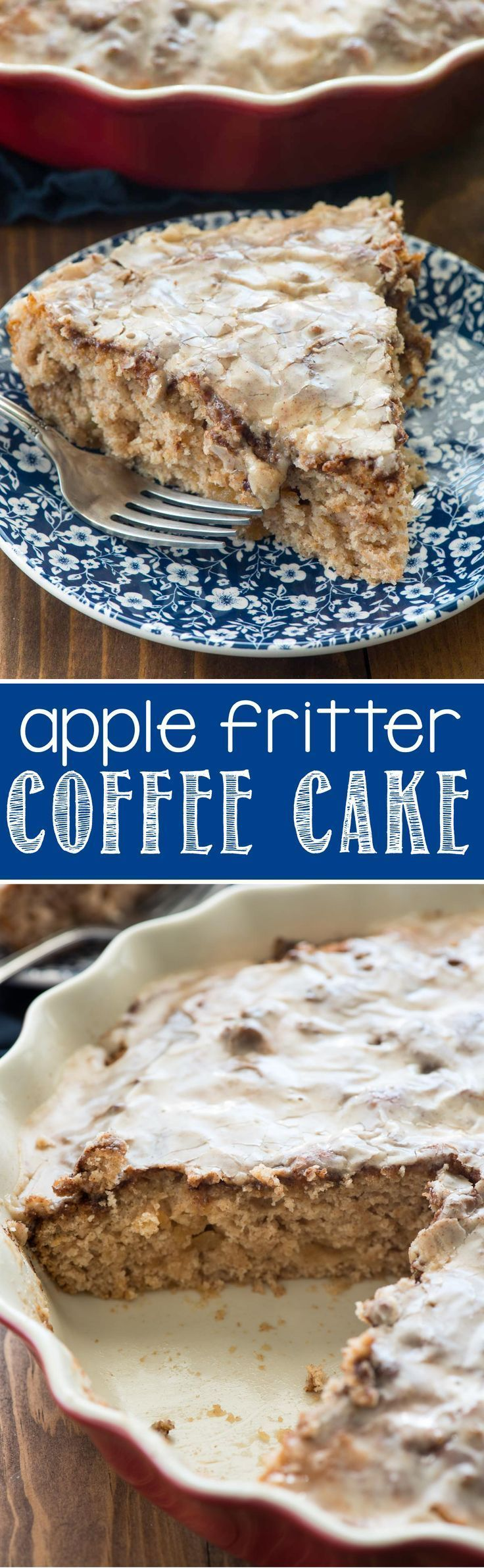 Apple Fritter Coffee Cake - this EASY coffee cake recipe tastes JUST like an…