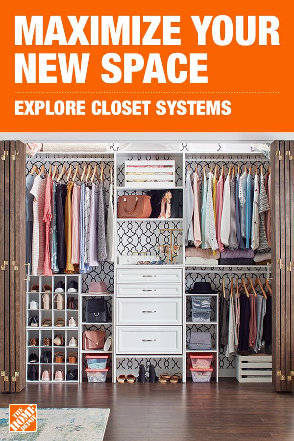Build The Closet Of Your Dreams With The Home Depot S Shelving And Organizers Closet Renovation Closet Remodel Bedroom Closet Design
