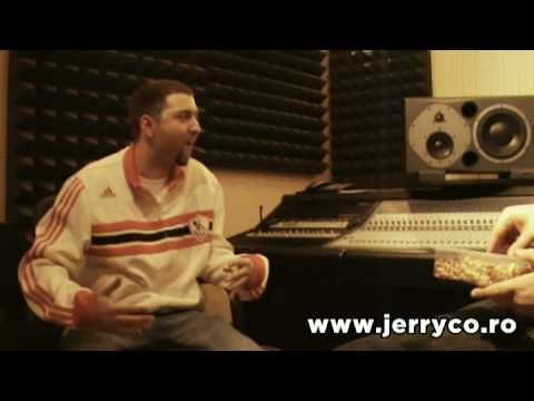 JerryCo recording his voice for Hip Hop music at Ines Studios