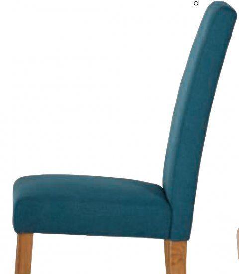 Hanbury Teal Fabric Dining Chair