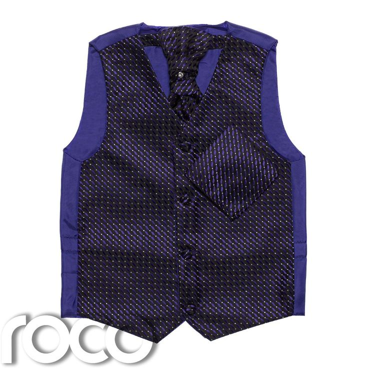 Boys Purple Waistcoat Set, Boys Cravat, Boys Waistcoats, Page Boy, Wedding