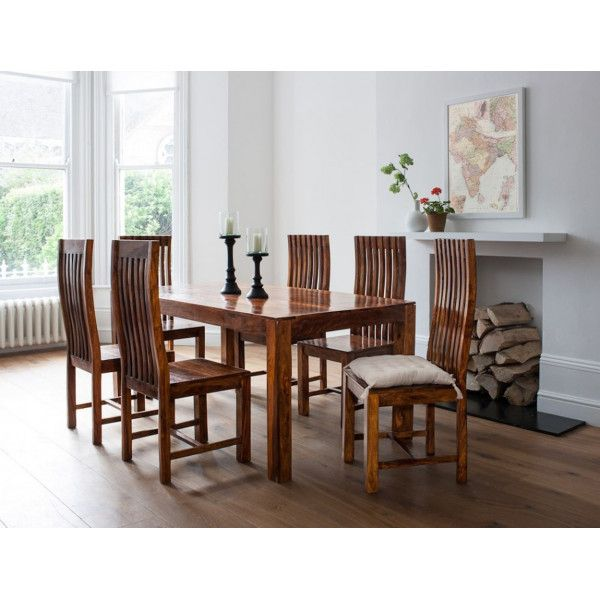 LifeEstyle Handcrafted Sheesham Wood Dining Set With 6 Chairs