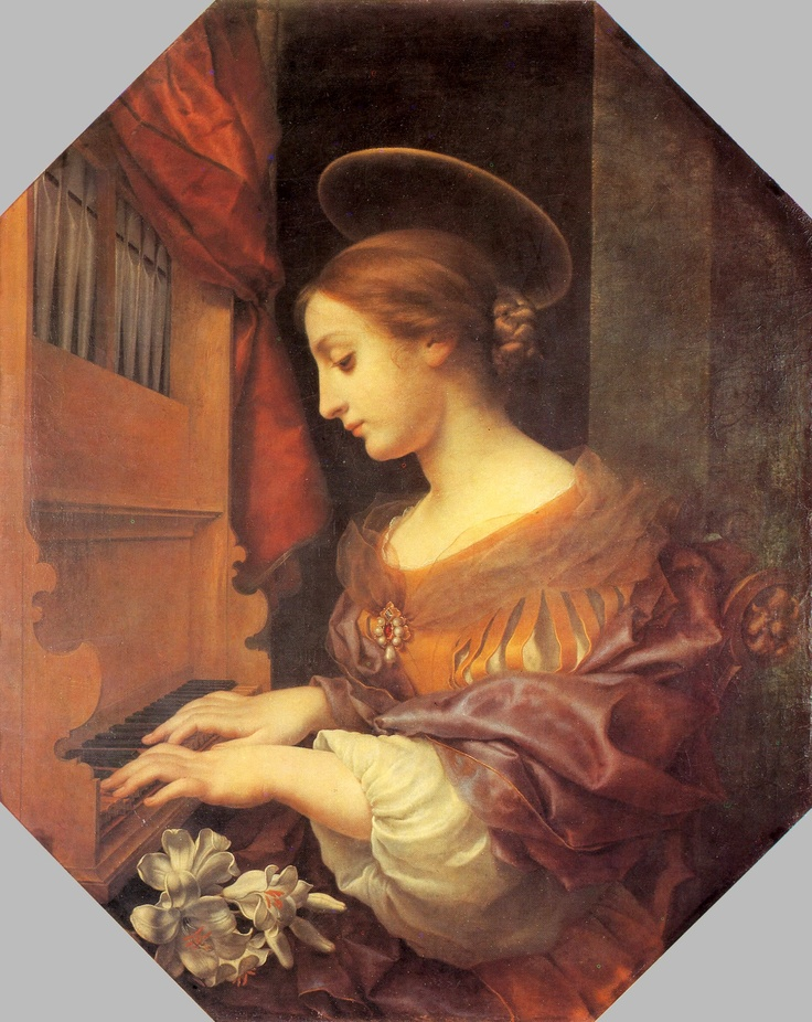 Gemäldegalerie, Dresden - Carlo Dolci - St Cecilia at the Organ