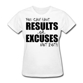 You can have RESULTS of EXCUSES not Both - Ladies t-shirt from Ripped Generation Gym Wear! Available at $18.95 on www.RGgymwear.com #T-Shirt #GymMotivation #Fitness #GymWear #LadiesGymWear #LadiesFitness