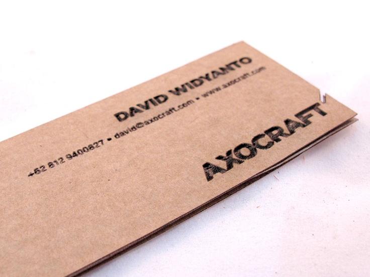 Axocraft Business Card