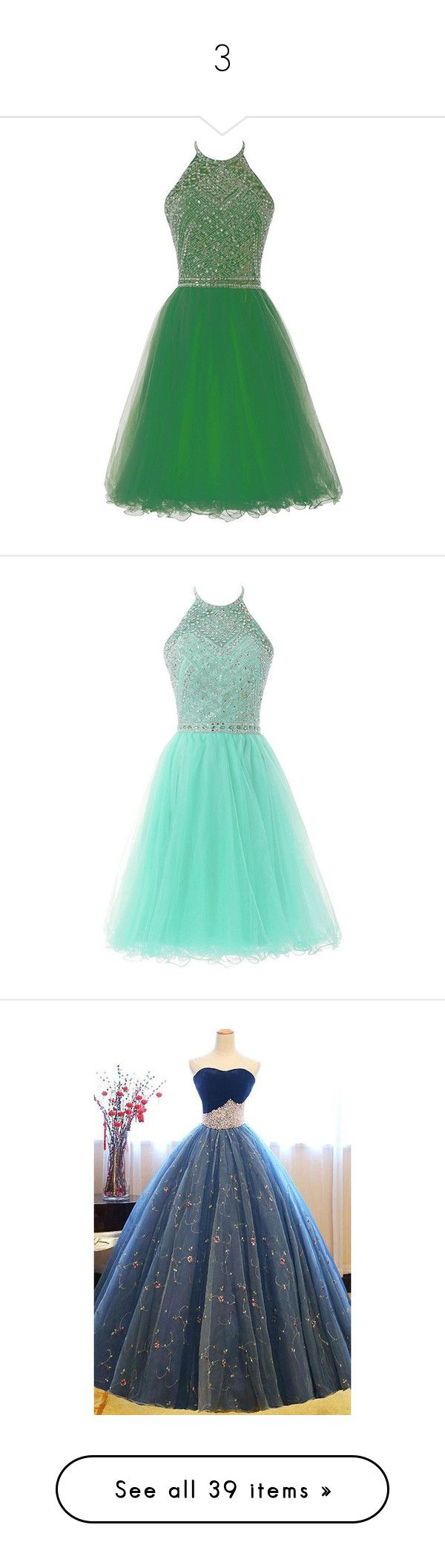"""""""3"""" by alinovarose ❤ liked on Polyvore featuring dresses, gowns, green dress, halter top prom dress, prom ball gowns, homecoming dresses, short prom dresses, short dresses, halter prom dresses and green homecoming dress"""