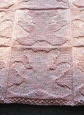 Merino 5 Teddy Bear Baby Blanket - free knitting pattern for baby blanket - Crystal Palace Yarns