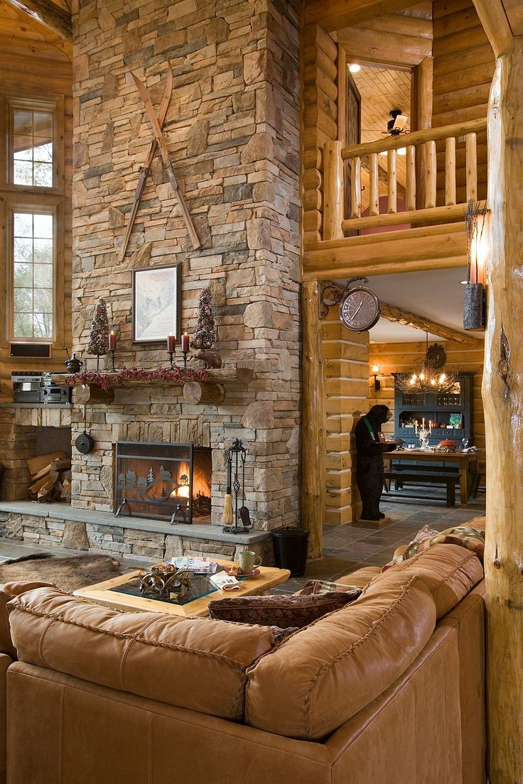 17 best images about outdoor fireplaces indoor for Log home fireplaces