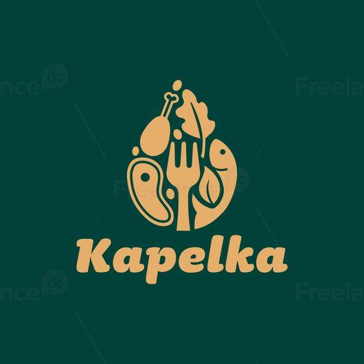 Logo for a restaurant, cafe, supermarket. Vector graphics.