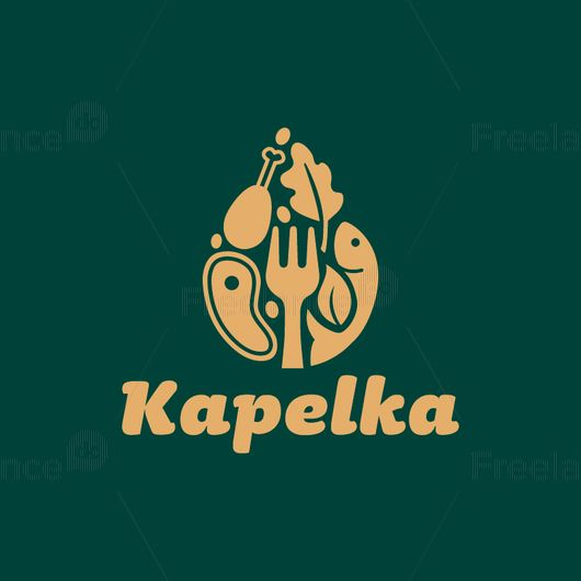 Logo for a restaurant, cafe, supermarket. Vector graphics.