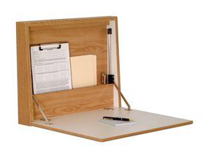Wooden Mallet Foldaway Home Office Wall Desk / Laptop Computer Workstation Desk Furniture -Oak