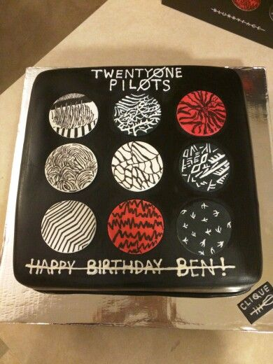 Twenty one Pilots Album Cover Cake