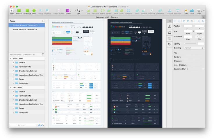 A Huge Free Dashboard UI Elements (Photoshop – Sketch)