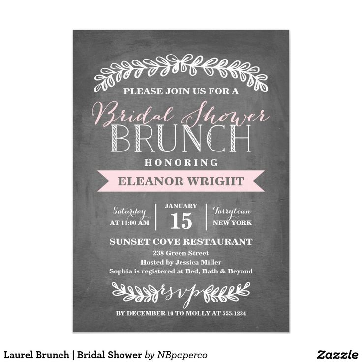 zazzle wedding invitations promo code%0A Laurel Brunch   Bridal Shower Card