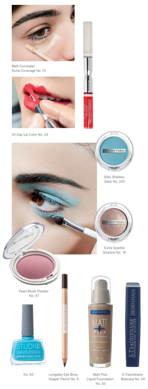 Le Grand Ciel | Seventeen Cosmetics Blue and all its shades with soft touches on the lashes or even in bolder versions is this season's star. #Seventeen #Cosmetics #makeup