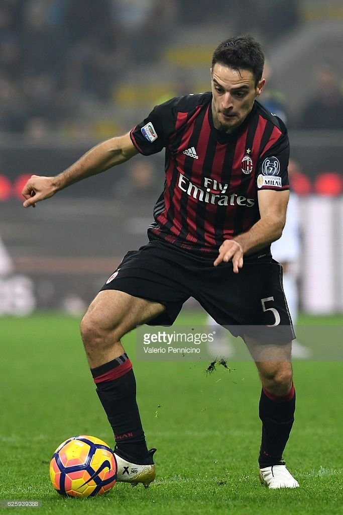 Giacomo Bonaventura of AC Milan in action during the Serie A match between AC Milan and FC Internazionale at Stadio Giuseppe Meazza on November 20, 2016 in Milan, Italy.