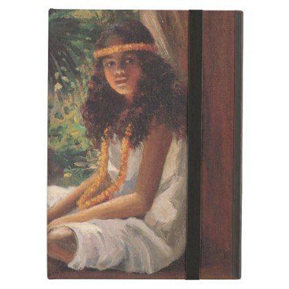 Portrait of a Polynesian Girl - Helen T. Dranga iPad Air Cover - portrait gifts cyo diy personalize custom