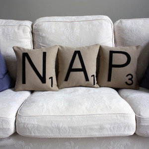 Letter NAP Pillow Set, $59, now featured on Fab.