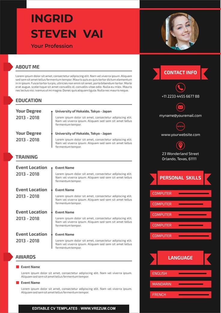 Editable free cv templates for school leavers in 2020