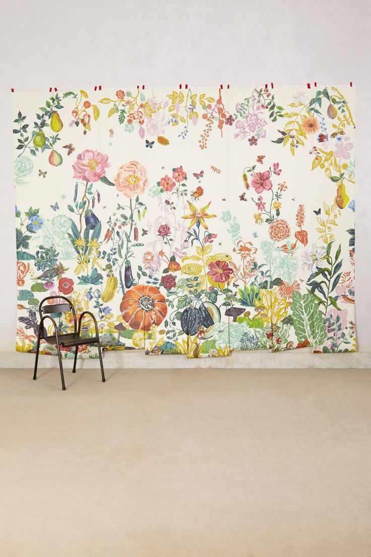 128 best images about wallcoverings on pinterest stone for Anthropologie dreamscape mural