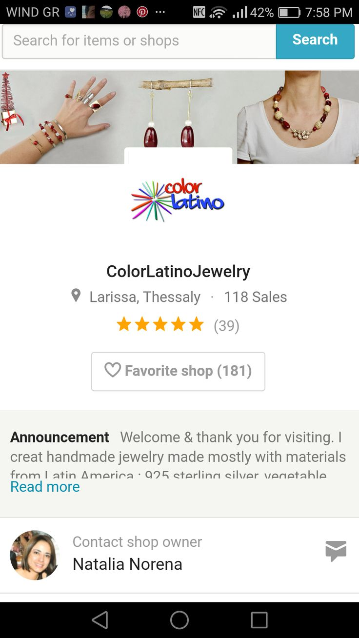 Last part of my business story About a year ago I opened my retail store on Etsy, later I was approved to be an etsy wholesaler.  I sell mostly to the USA, the European Union, Australia, New Zealand and Japan. A month ago we started shipping worldwide. Check out my etsy store https://www.etsy.com/shop/ColorLatinoJewelry   or my site http://colorlatinojewelry.com
