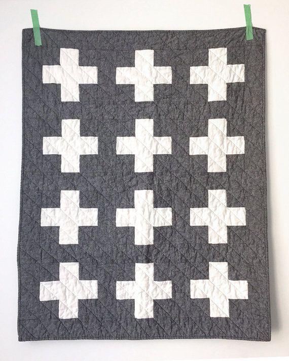 Modern linen cross quilt – made to order