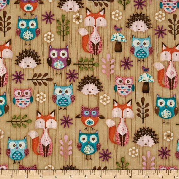Crib Bedding Set Woodlands Critters Fox Owl Baby Girl