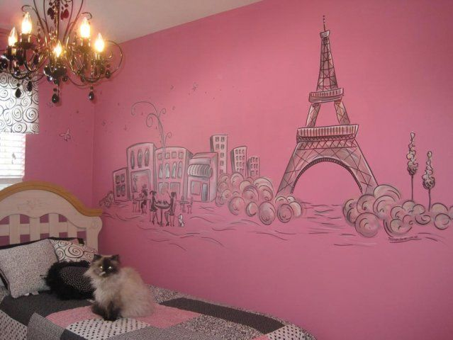 This Is What She Is Wanting For Her New Room In Our New Home. Paris  Painting For Girls Bedroom Part 68