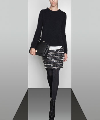 Sequinned embroidered skirt - Skirts - READY TO WEAR - United Kingdom