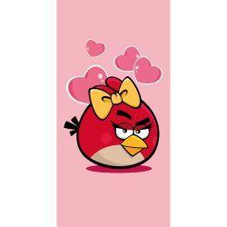 Kylpypyyhe Angry Birds Valentine 70x140 cm x2