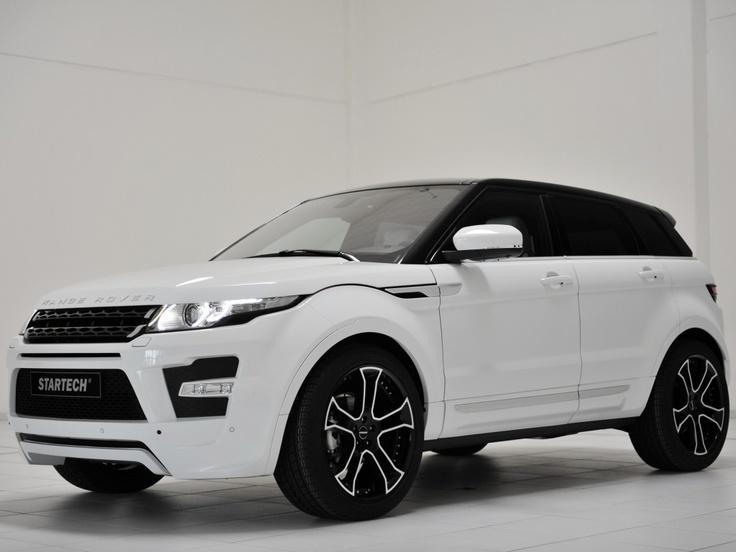 range rover evoque white black rims