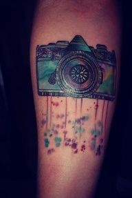 watercolor tattoo. I want this one!
