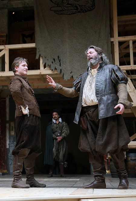 Jamie Parker as Hal and Roger Allam as Falstaff in Skakespeare's Henry IV   © The Heritage American, 2010.