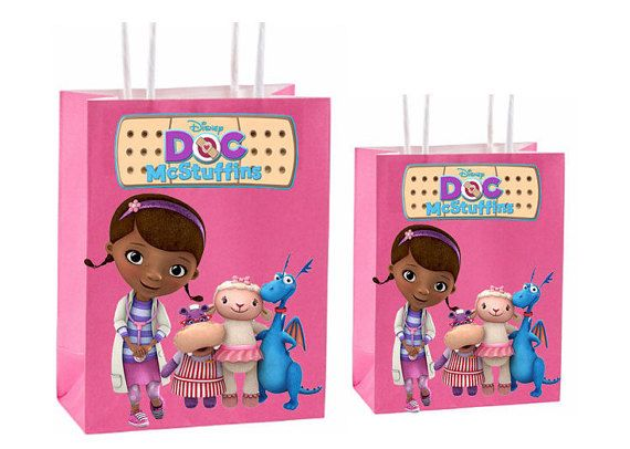 Doc mcstuffins Party Favor Bag Printable by GoldMimeDesigns