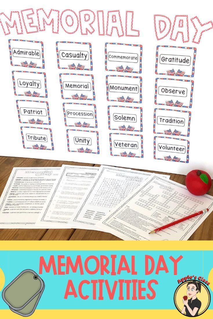Memorial Day Worksheet Activities Kindergarten Worksheets Memorial Day Activities Teacher Favorite Things [ 1102 x 735 Pixel ]