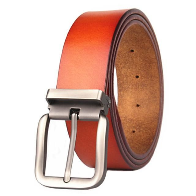 2018 high quality brand belt large size leather belt mens 130 135 140 cm leather belt brown coffee 4.0cm wide men's belt