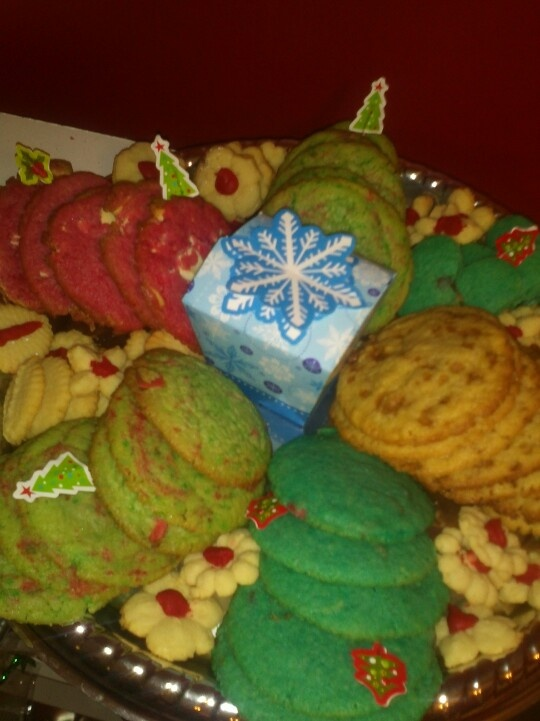 Coloured cookie tray
