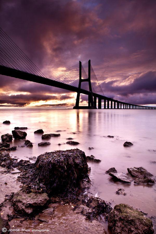 Vasco da Gama bridge Lisboa Portugal 772