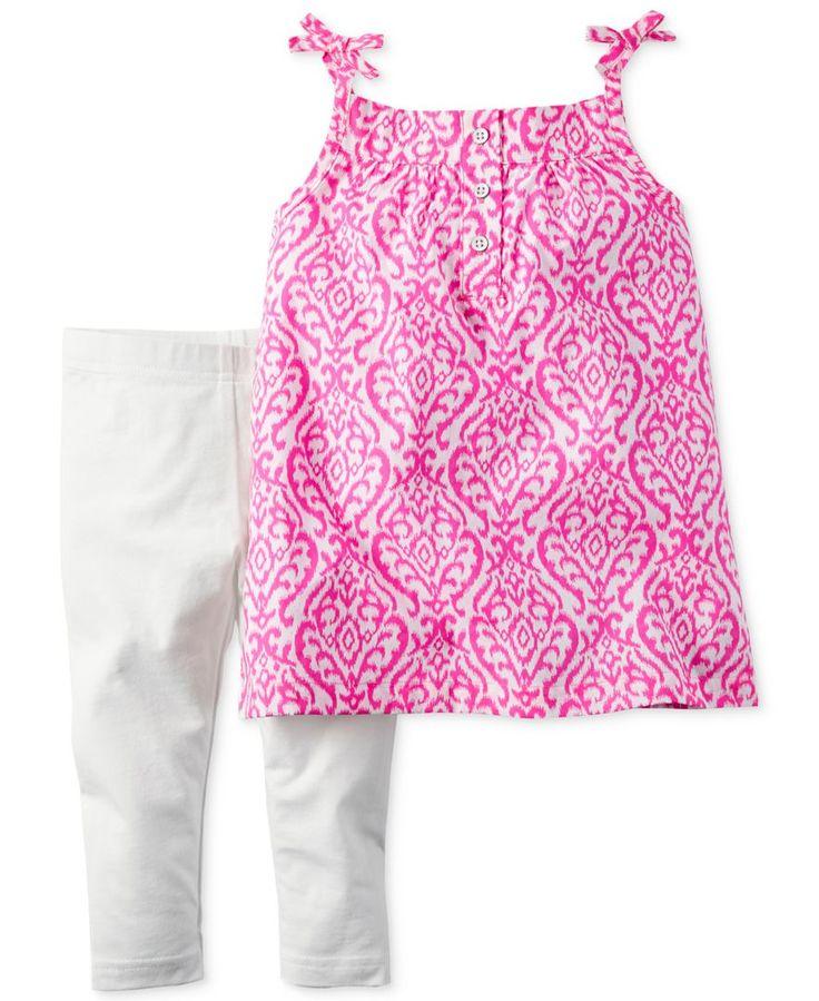 Carter's Baby Girls' 2-Piece Pink Geo-Print Tunic & Leggings Set