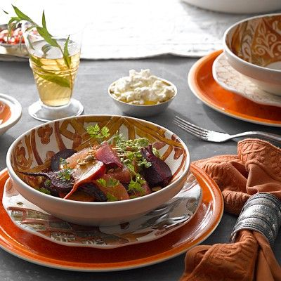 Morocco Dinnerware Collection #williamssonoma & 11 best Middle Eastern Table Setting images on Pinterest | Candle ...